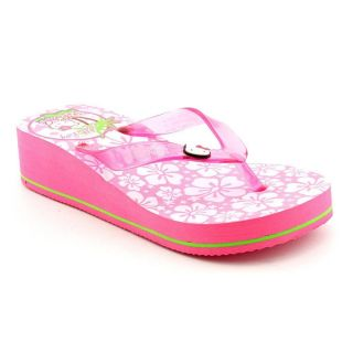 Hello Kitty Hula Youth Kids Girls Size 2 Pink Synthetic Flip Flops