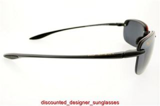 Maui Jim Sunglasses Sandy Beach MJ 408 02 Black Frame Gray Polarized