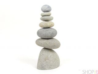 Rock Cairns 7 Natural River Stacking Stone Art Statue Eco Garden