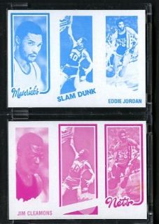 1980 81 Topps Basketball Proof Cards Eddie Jordan Nets