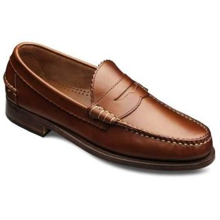 Allen Edmonds Mens Kenwood Tan Saddle Slip on Loafer 44000