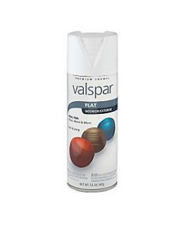 Flat White Premium Enamel Aerosol Spray Paint by Valspar 785691