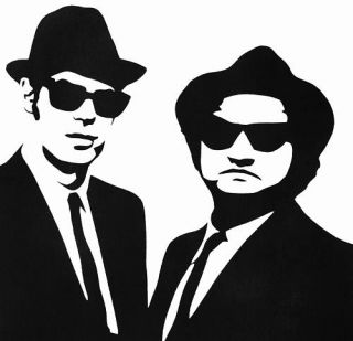 Jake and Elwood 2 Sticker Vinyl Decal Blues Brothers