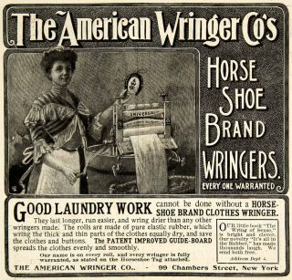 1901 Ad American Wringer Horse Shoe Brand Clothing Laundry Wash Clean