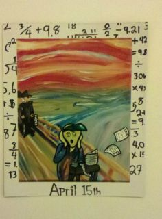 The Scream Edvard Munch Art Vinyl Fridge Magnet April 15th Tax Day