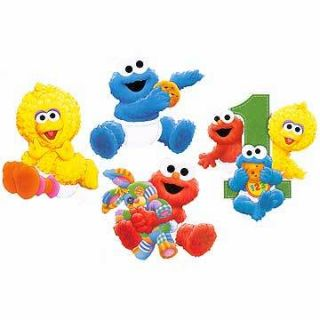 Sesame Street Elmo 1st Birthday Party Wall Decorations