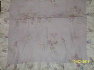 Rachel Ashwell Simply Shabby Chic Purple Floral Rose Pillow Shams King