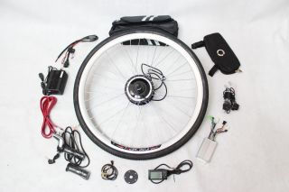 48V 200W Front Wheel Electric Bicycle Conversion Kits with LCD Display