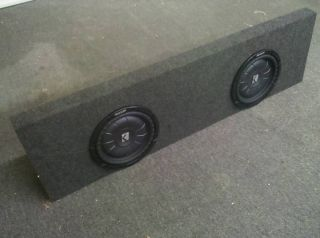 Chevy Silverado Crew Cab Subwoofer Box Enclosure 2 10S