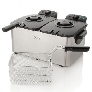 388 699 elite elite stainless steel dual basket deep fryer rating 34 $