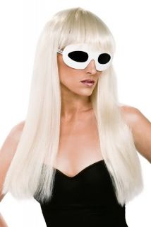 Lady Gaga Pokerface Video Costume Set Wig Bow Clip Sunglasses Included