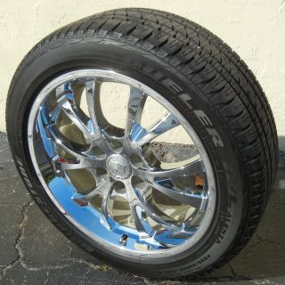 22 Chrome Factory Cadillac Escalade Wheels Bridgestone Tire Silverado