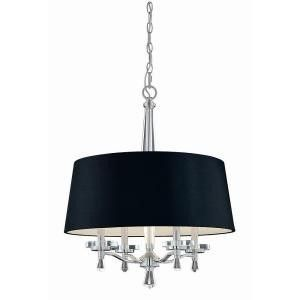 Hampton Bay Elora Collection 4 Light Chrome Pendant New