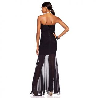 JS Collections Womens Strapless Full Length Gown