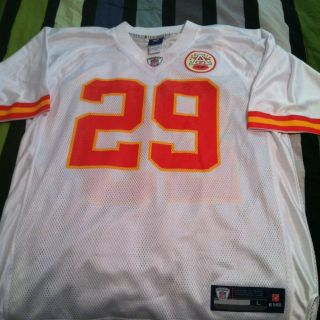 Eric Berry on Field NFL Kansas City Chiefs Jersey Size Large Mens