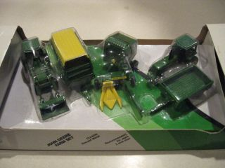 Ertl 1 64 Diecast Metal Farm Toy John Deere 6 Piece Farm Set 5514