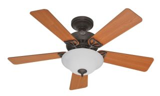 Hunter 44 Ceiling Fan with Light Reversible Blades Provencal Gold HR