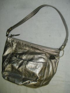 The Sak Fernwood Metallic Leather Hobo Handbag Purse