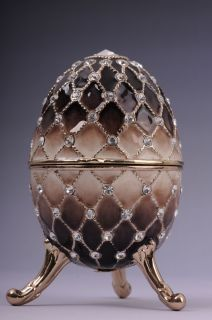 Faberge Easter Egg by Keren Kopal Swarovski Crystal Jewelry box