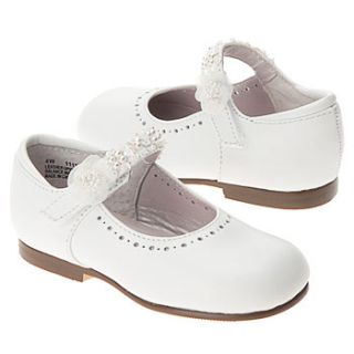 Kids   Girls   Dress Shoes   Mary Jane   Wide Width   White  Shoes