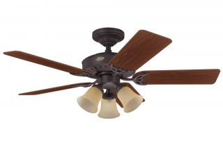 HUNTER 46 Ceiling Fan w/ Light & Reversible Blades BRONZE HR 22568