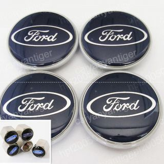Ford Foucs Wheel Center Caps Hub Covers 63mm Gift Tire Valve Stems