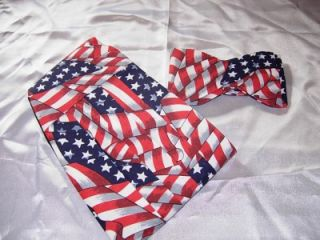 bow tie cummerbund set american flag stars stripes