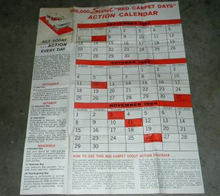International Harvester Scout Red Carpet Days 1964 Action Calendar