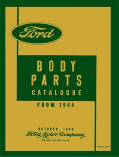 1946 1947 1948 Ford Car Parts Book List Guide Catalog