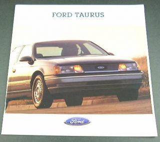 Original 1988 Ford Taurus Brochure. Covers the L, GL, LX, MT 5 models