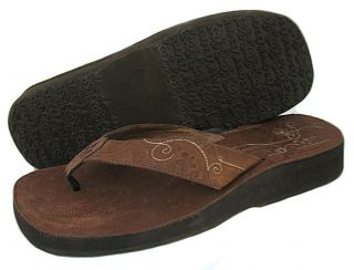 NWD Reef Womens Laiser Brown Flip Flop Sandals Shoes US 9