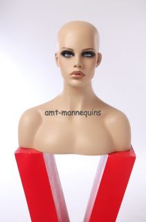 Female bust mannequin heads display wigs hats scarves jewelry, dummy
