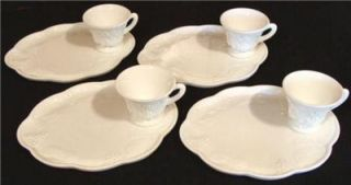 Indiana~ Harvest Grape Milk Glass~ 4 sets~ Lunch~uncheon~Snack Plates