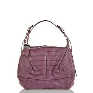 Francesco Biasia Purple Jealousy Prunus Leather Hobo