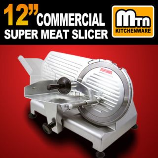 Restaurant 420W Electric Frozen Meat Deli Food Slicer