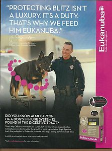 2010 Print Ad Eukanuba Dog Food German Shepherd K 9