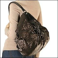 Francesco Biasia Ellen Morus Hobo Brown Bag New Leather Satin Handbag