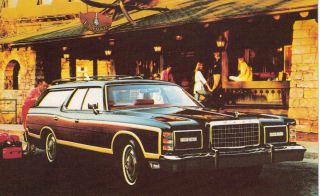 1978 Ford Country Squire Wagon Postcard Original Excellent Condition
