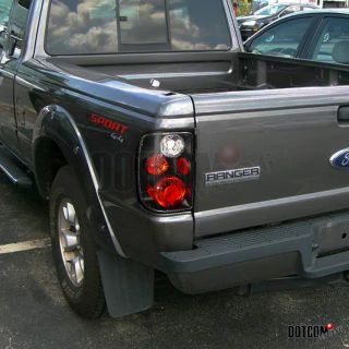 98 05 Ford Ranger Matt Black Tail Lights All Models 3 Socket Holes