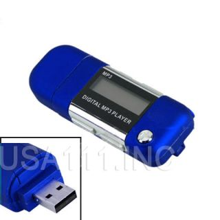 New 8GB Blue  Media Player USB FLash Drive FM Radio Voice Recorder