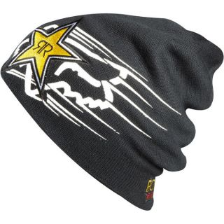 Fox Racing Rockstar Energy Beanie Hat Gold White Black Zoom One Size