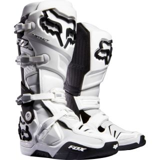Fox Racing Instinct Boots White Black Offroad Dirt MX Motocross 2013