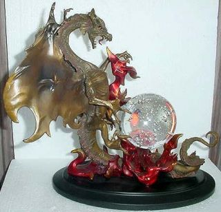 Franklin Mint Dragon of Destiny Bronze Sculpture