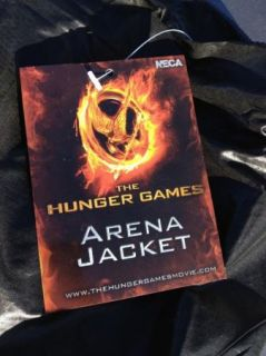 Hunger Games Tribute Arena Jacket Halloween Costume Black Zipup Hooded