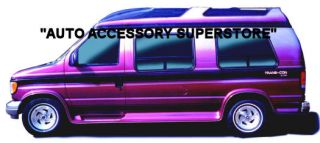 92 07 Ford Econoline Van Full Flared Running Boards with Molded Fender