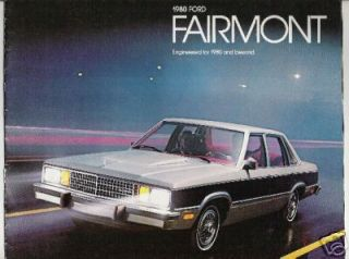 Great Condition 1980 Ford Fairmont Car Brochure 76