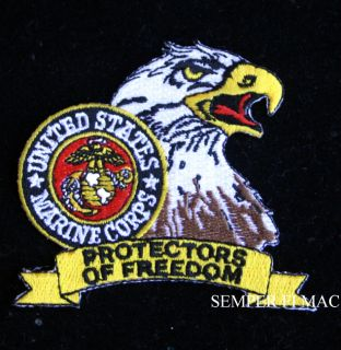 USMC Protectors of Freedom Marine Corps WOW Hat Patch