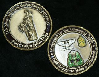 Medical Department Activity Fort Drum New York Challenge Coin
