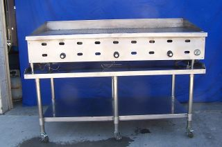 60 US Range Commercial Gas Grooved Grill Griddle