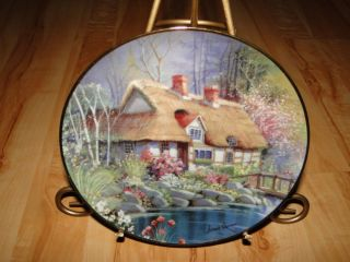 Lane Cottage House Andres Orpinas Franklin Mint House Plate